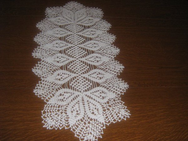 L l chemin de table au crochet l l blog de for Chemin de table crochet