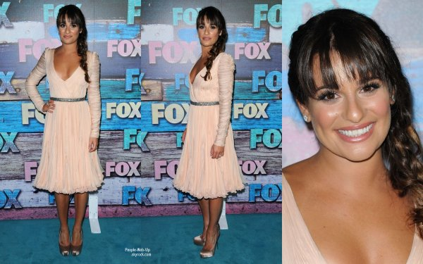  Lea Michele et quelques acteurs de la srie Glee ont assister  la Fox All-Star Party  (lundi (Juillet 23)  West Hollywood, Californie) 