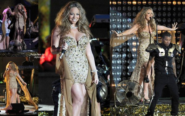 Mariah Carey perfome au 2012 NFL Kick-Off  pendant un concert organis� au Rockefeller Center (mercredi (Septembre 5) � New York.)