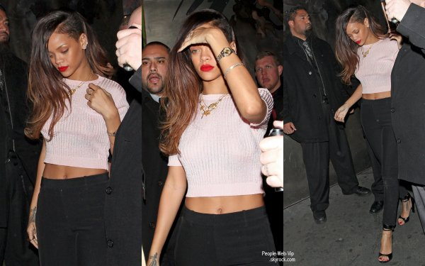  Rihanna dans une tenue simple mais a la fois sexy, quitte le The Roxbury  (jeudi (Janvier 10)  Hollywood, Californie) 