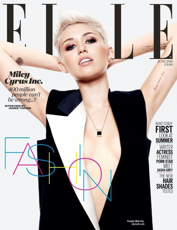 MILEY CYRUS En couverture du magazine &quot; ELLE Uk &quot;  Qu'en pensez vous ? 