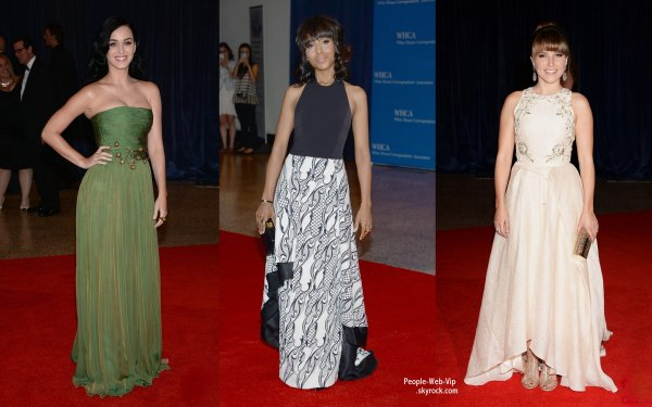  Katy Perry, Kerry Washington, Hayden Panettiere, Sophia Bush, Rebel Wilson et Psy sur le tapis rouge lors du dner de gala des correspondants de la Maison Blanche. Un vnement annuel qui a runi de nombreuses clbrits.  (samedi (27 Avril)  Washington, DC) 