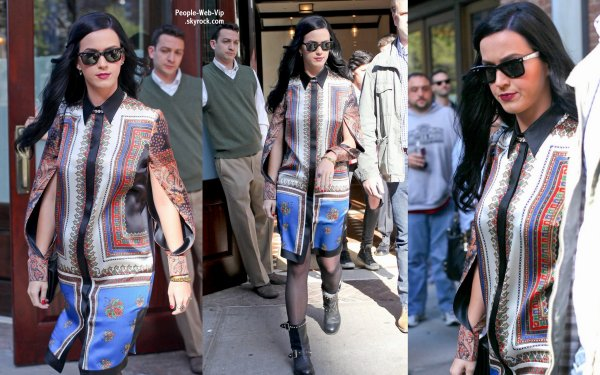  Katy Perry aperue en sortant de son htel  (vendredi (3 mai)  New York.) 