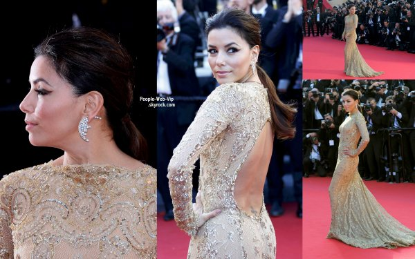  Eva Longoria toujours glamour sur le tapis rouge lors de la premire du film &quot;Le Passe&quot;  pendant le Festival de Cannes 2013 qui s'est tenue au Palais des Festivals (vendredi (17 mai)  Cannes, France.) 