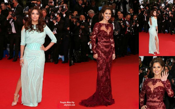  Eva Longoria, Cheryl Cole et Jennifer Lawrence assistait  la premire du film Jimmy P. (Psychotherapy Of A Plains Indian)  pendant le Festival de Cannes 2013  ( samedi (18 mai)  Cannes, France.) 